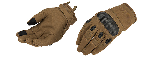 Lancer Tactical Kevlar Airsoft Tactical Hard Knuckle Gloves [MED] (TAN)