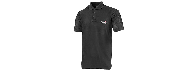 Lancer Tactical Short-Sleeve Polo Shirt [Medium] (BLACK)