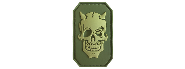 G-Force Zombie Devil PVC Morale Patch (OLIVE GREEN)