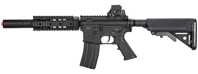 Double Bell M4 RIS AEG Full Metal Airsoft Rifle w/ Mock Suppressor (BLACK)