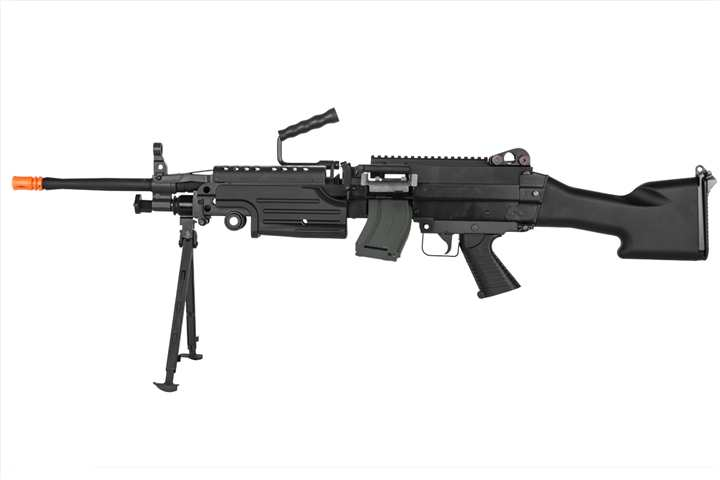 Classic Army Full Metal M249 MKII SAW Airsoft Machine Gun AEG (BLACK)