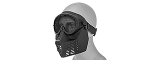 2603 FACE MASK (BLACK) w/MESH EYE PROTECTION