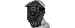 2604B FACE MASK (BLACK) w/MESH EYE PROTECTION