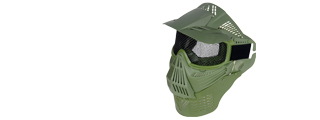 2604M FACE MASK (OD GREEN) w/MESH EYE PROTECTION