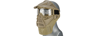 2604TG FACE MASK (TAN) w/GOGGLE EYE PROTECTION