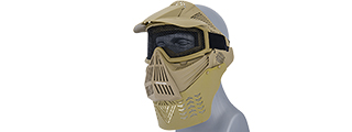 G-FORCE COMPLETE PROTECTION WIRE MESH AIRSOFT FACE MASK - TAN