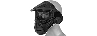 2608 FULL MASK w/MESH EYE PROTECTION & VISOR (BLACK)