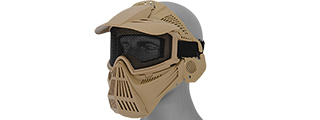 2608T FULL MASK w/MESH EYE PROTECTION & VISOR (TAN)