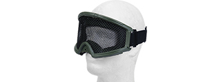 2611G TACTICAL GEAR STEEL MESH GOGGLES WITH VISOR (OD GREEN)