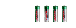 Tenergy AA-BATTERY 4 Pack