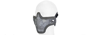 AC-103AU METAL MESH HALF MASK (ACU) DOUBLE STRAP VERSION