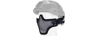 AC-103BH METAL MESH HALF MASK (BLACK) HELMET VERSION