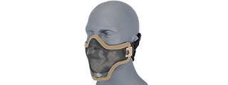 AC-103D METAL MESH HALF MASK (DESERT CAMO) DOUBLE STRAP VERSION