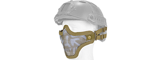 AC-103DH METAL MESH HALF MASK (DESERT TAN & SKULL) HELMET VERSION