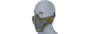 AC-103G METAL MESH HALF MASK (OD GREEN) DOUBLE STRAP VERSION