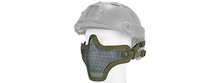 AC-103GH METAL MESH HALF MASK (OD GREEN) HELMET VERSION