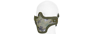 AC-103JD METAL MESH HALF MASK (JUNGLE DIGITAL CAMO) DOUBLE STRAP VERSION