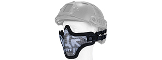 AC-103SH METAL MESH HALF MASK (SKULL) HELMET VERSION