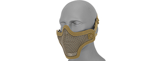 AC-103T METAL MESH HALF MASK (TAN) DOUBLE STRAP VERSION