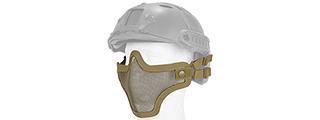 AC-103TH METAL MESH HALF MASK (TAN) HELMET VERSION