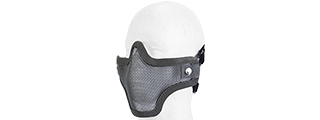 AC-103Y METAL MESH HALF MASK (GRAY) DOUBLE STRAP VERSION