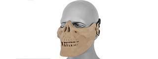 UKARMS AC-104T Tactical Skull Skeleton Half Mask for Airsoft in Desert Tan