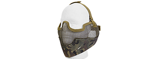 AC-108C METAL MESH HALF MASK w/EAR PROTECTION (CAMO)