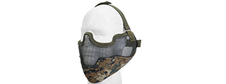 AC-108M METAL MESH HALF MASK w/EAR PROTECTION (MARPAT)