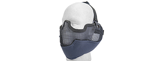 AC-108Y METAL MESH HALF MASK w/EAR PROTECTION (GRAY)
