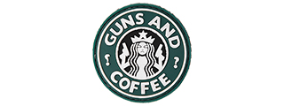 AC-110J GUNS AND COFFEE PVC PATCH