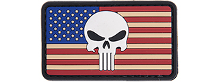 AC-110L PUNISHER US FLAG PVC PATCH