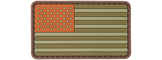 AC-110M BROWN TONE US FLAG PVC PATCH