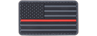 AC-110R RED LINE USA FLAG PVC PATCH