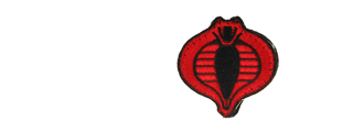 UKARMS AC-126 Cobra Commander Black and Red Velcro Patch