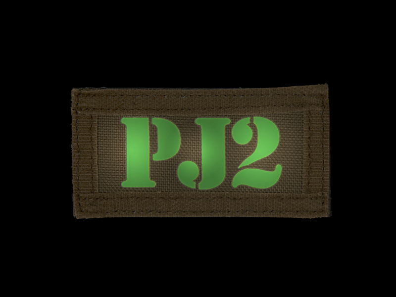 AC-131J PJ2 call sign patches, IR & Glow-in-the-Dark, set of 2