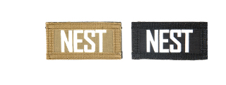 AC-131N NEST call sign patches, IR & Glow-in-the-Dark, set of 2