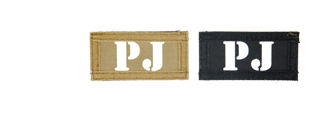 AC-131P PJ call sign patches, IR & Glow-in-the-Dark, set of 2