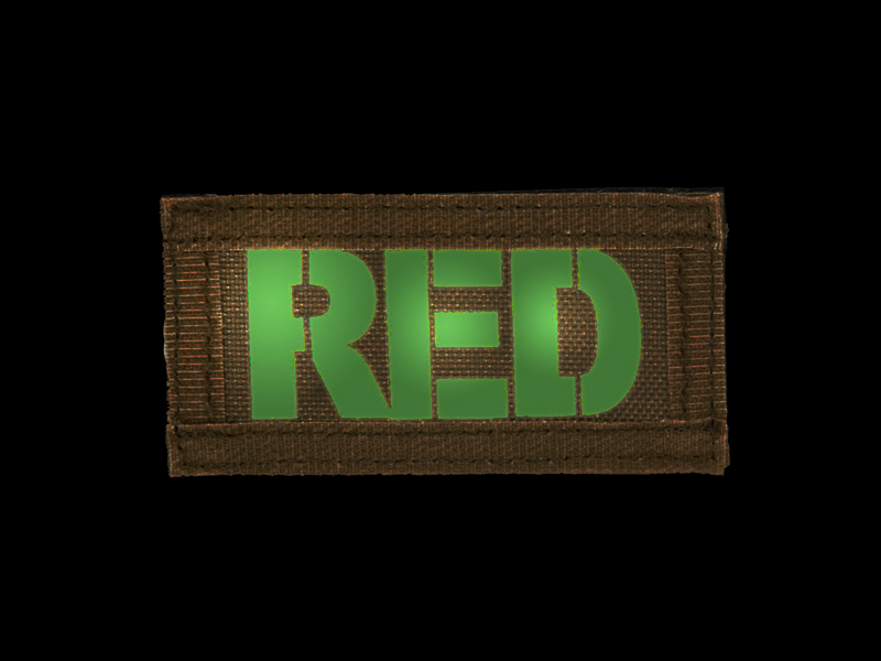 AC-131R RED call sign patches, IR & Glow-in-the-Dark, set of 2