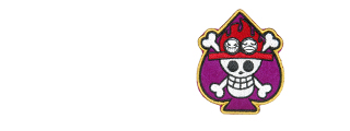 AMA AIRSOFT SPADE PIRATES MORALE PATCH - PURPLE/WHITE