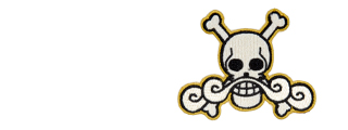 UK ARMS AIRSOFT HOOK AND LOOP BASE ROGER PIRATES PATCH - WHITE/YELLOW