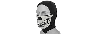 AC-176B Glow-in-the-Dark Skull Balaclava in Black