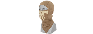 AC-176T Glow-in-the-Dark Skull Balaclava in Tan