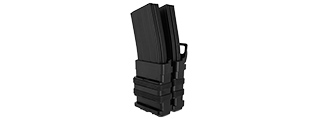 AC-213B QUICK DOUBLE M4 MAGAZINE POUCH (COLOR: BLACK)