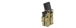 AC-214C QUICKmAG SINGLE RIFLE MAG + TWIN PISTOL MAG POUCH (COLOR: MODERN CAMO)