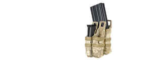 AC-214D QUICKmAG SINGLE RIFLE MAG + TWIN PISTOL MAG POUCH (COLOR: DESERT DIGITAL)