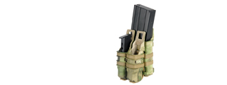 AC-214F QUICKmAG SINGLE RIFLE MAG + TWIN PISTOL MAG POUCH (COLOR: AT-FG)