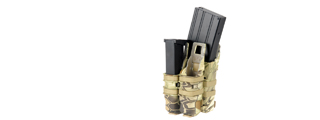 AC-214H QUICKmAG SINGLE RIFLE MAG + TWIN PISTOL MAG POUCH (COLOR: HLD)