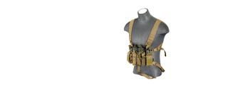 AC-215T D-Mittsu Chest Rig, Coyote Brown