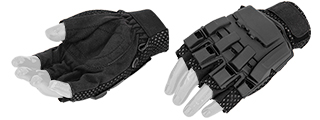 AC-222XL Paintball Glove Half Finger (Black) - Size XL