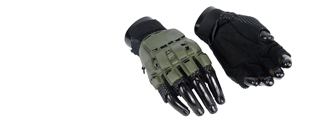 AC-223XS Paintball Glove Half Finger, OD - Size XS